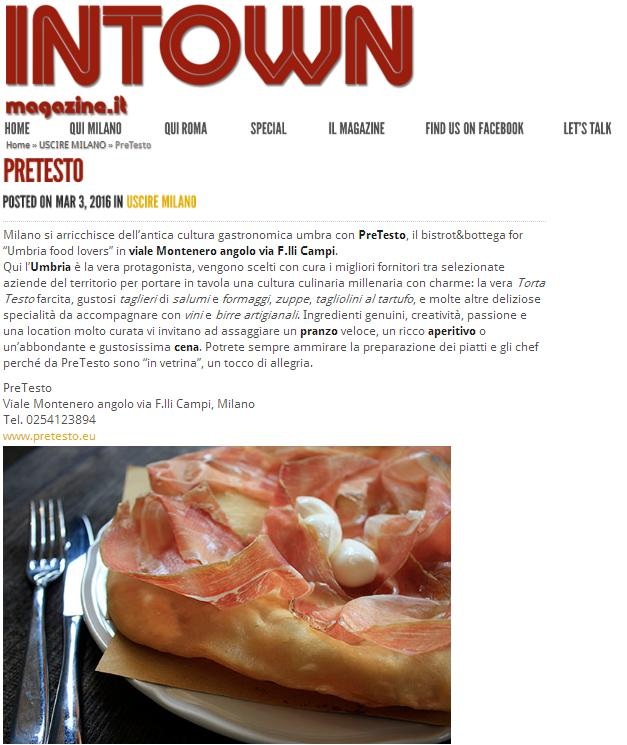 InTownMagazine.it 03.03.16